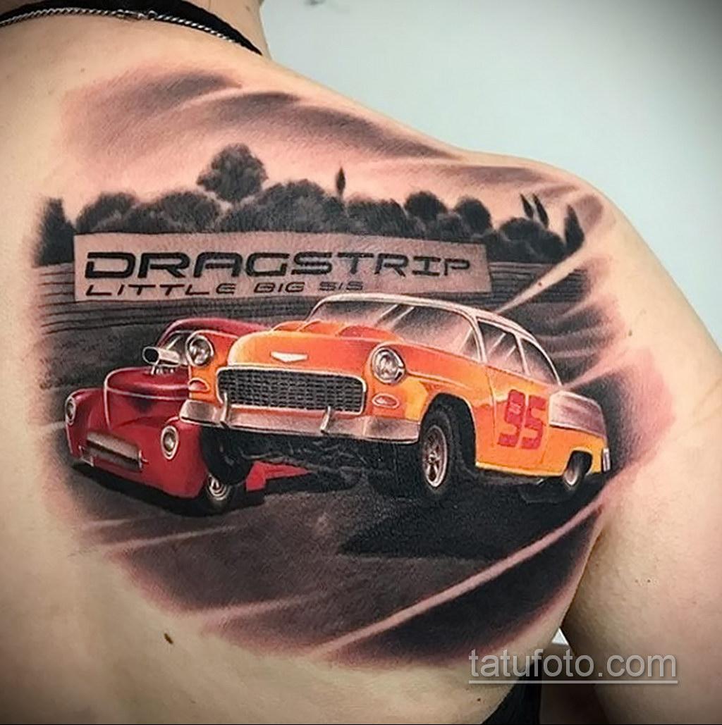 на фото тату и автомобиль 03.10.2019 №019 -tattoo and car- tatufoto.com