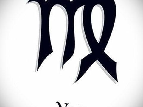 пример эскиза для татуировки знак девы 06.10.2019 №006 -Virgo Tattoo- tatufoto.com