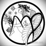 пример эскиза для татуировки знак девы 06.10.2019 №013 -Virgo Tattoo- tatufoto.com