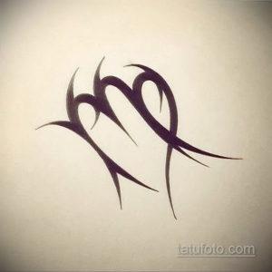 пример эскиза для татуировки знак девы 06.10.2019 №052 -Virgo Tattoo- tatufoto.com