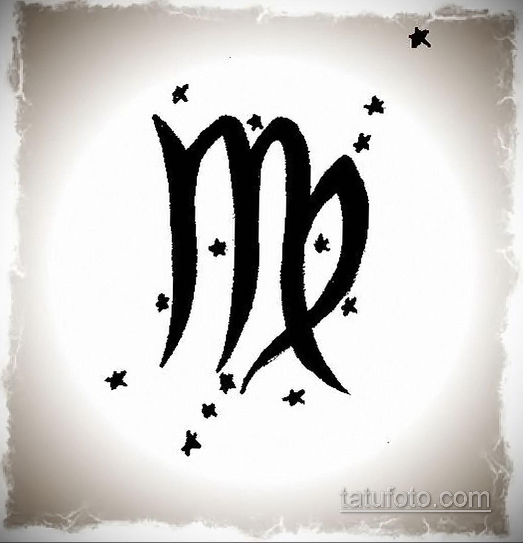 пример эскиза для татуировки знак девы 06.10.2019 №063 -Virgo Tattoo- tatufoto.com
