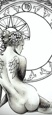 пример эскиза для татуировки знак девы 06.10.2019 №068 -Virgo Tattoo- tatufoto.com