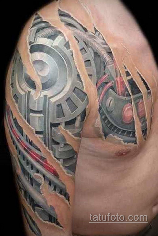 тату биомеханика на груди 31.10.2019 №019 - biomechanics tattoo on the che - tatufoto.com