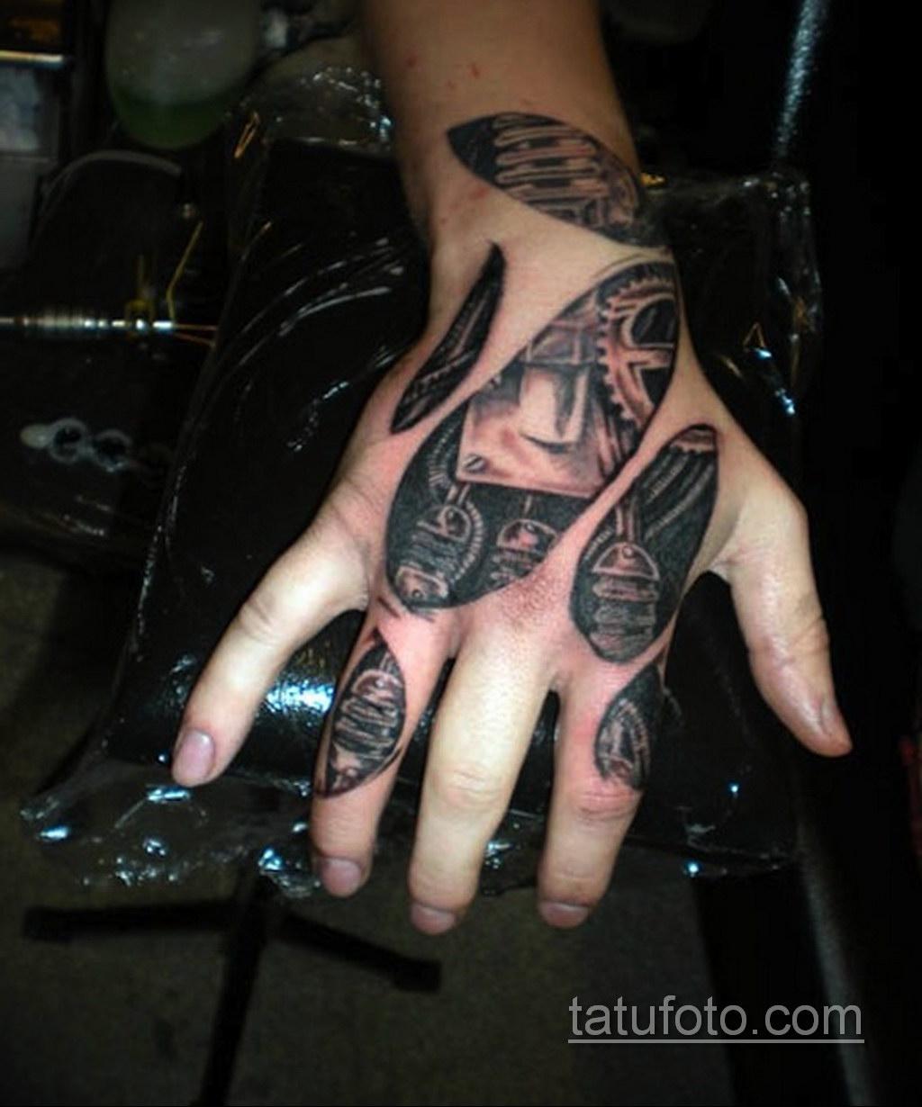 тату биомеханика на руке 31.10.2019 №006 - biomechanics tattoo - tatufoto.com