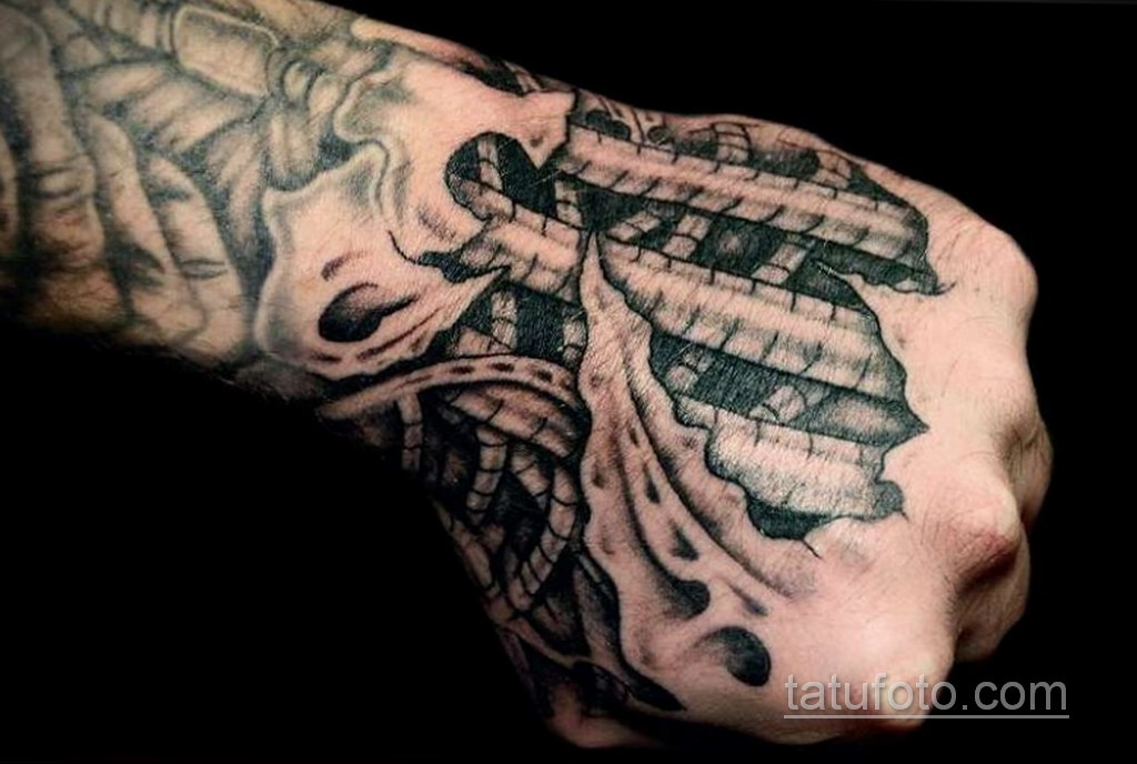 тату биомеханика на руке 31.10.2019 №010 - biomechanics tattoo - tatufoto.com