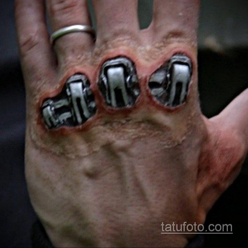 тату биомеханика на руке 31.10.2019 №012 - biomechanics tattoo - tatufoto.com