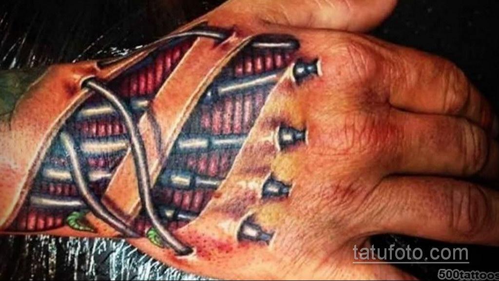 тату биомеханика на руке 31.10.2019 №014 - biomechanics tattoo - tatufoto.com