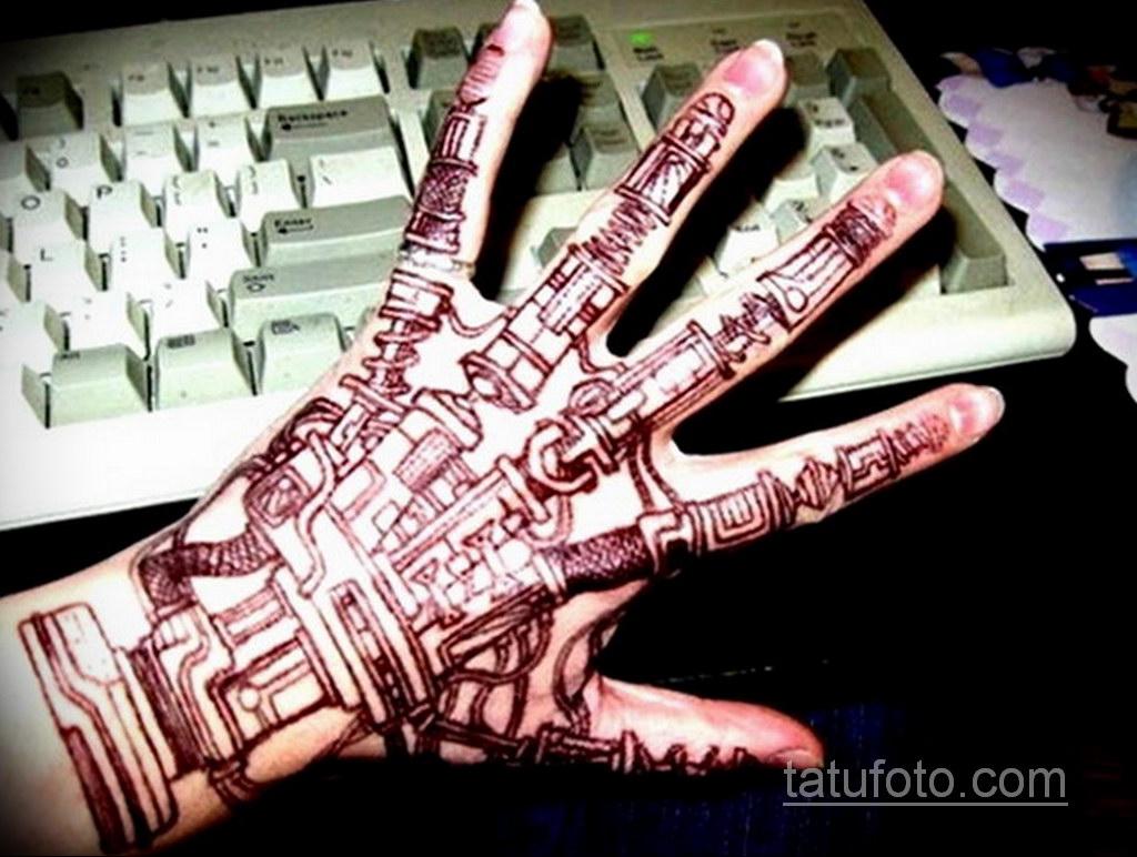 тату биомеханика на руке 31.10.2019 №021 - biomechanics tattoo - tatufoto.com