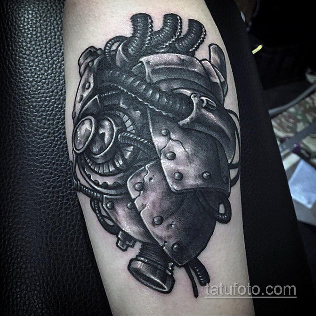 тату биомеханика сердце 31.10.2019 №013 - biomechanics tattoo heart - tatufoto.com