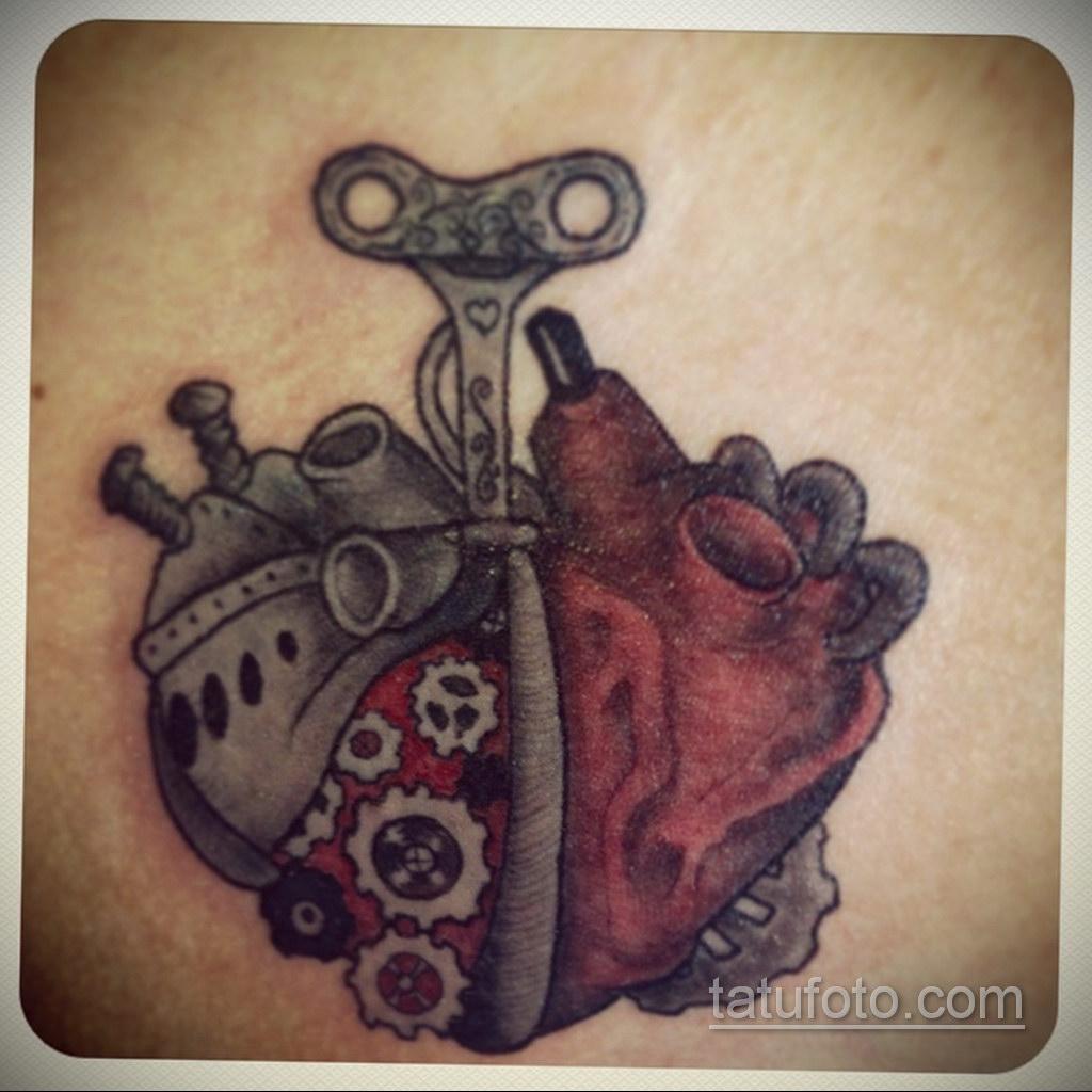 тату биомеханика сердце 31.10.2019 №025 - biomechanics tattoo heart - tatufoto.com