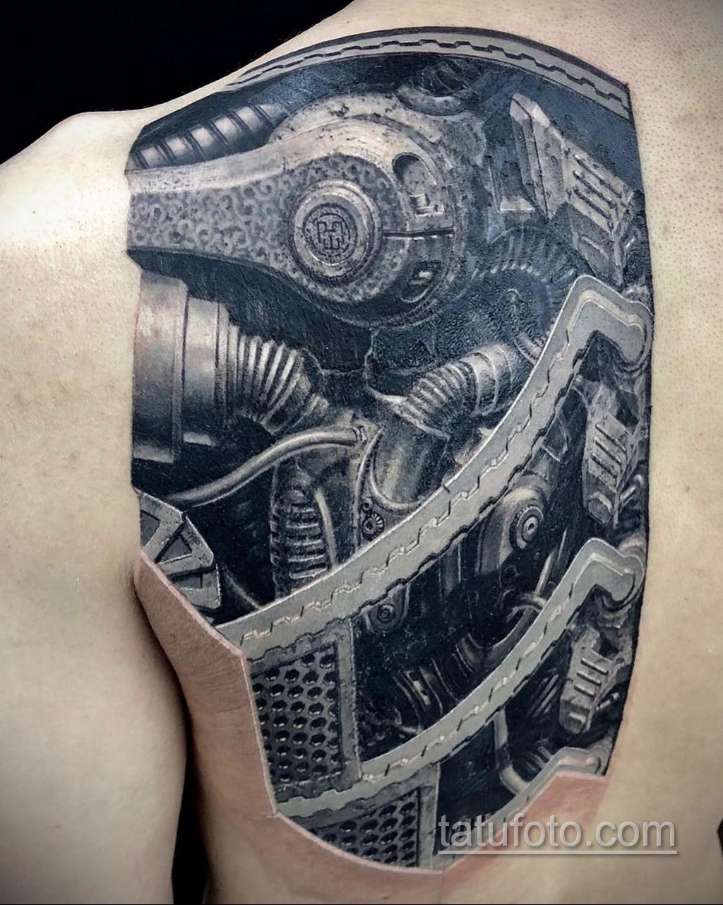 тату биомеханика 3д 31.10.2019 №009 - 3D biomechanics tattoo - tatufoto.com