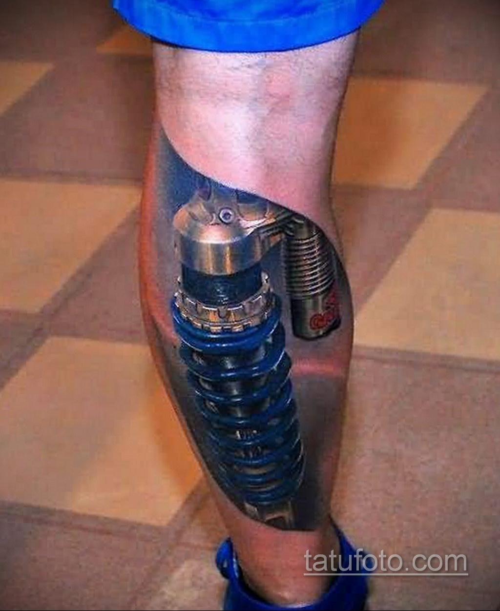 тату биомеханика 3д 31.10.2019 №013 - 3D biomechanics tattoo - tatufoto.com