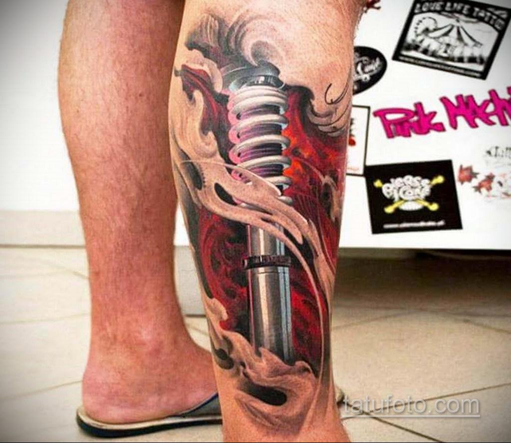 тату биомеханика 3д 31.10.2019 №032 - 3D biomechanics tattoo - tatufoto.com