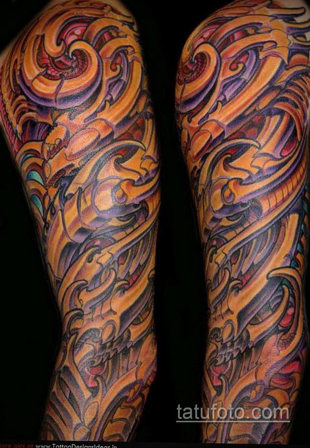 тату рукав биомеханика 31.10.2019 №018 - biomechanics tattoo - tatufoto.com