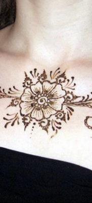 Пример временной татуировки хной на фото 11.11.2019 №284 -henna tattoo- tatufoto.com