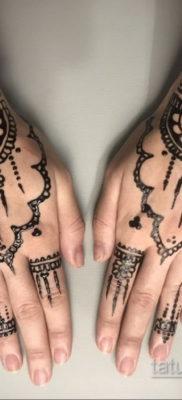 Пример временной татуировки хной на фото 11.11.2019 №285 -henna tattoo- tatufoto.com