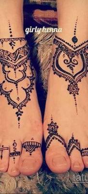 Пример временной татуировки хной на фото 11.11.2019 №290 -henna tattoo- tatufoto.com