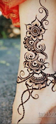 Пример временной татуировки хной на фото 11.11.2019 №294 -henna tattoo- tatufoto.com