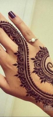Пример временной татуировки хной на фото 11.11.2019 №298 -henna tattoo- tatufoto.com