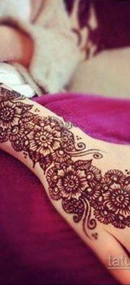 Пример временной татуировки хной на фото 11.11.2019 №305 -henna tattoo- tatufoto.com