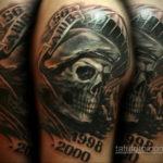 Татуировка разведки – летучая мышь 24.11.2019 №001 -bat tattoo- tatufoto.com