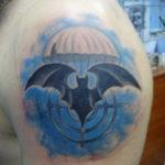 Татуировка разведки – летучая мышь 24.11.2019 №002 -bat tattoo- tatufoto.com