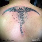 Татуировка разведки – летучая мышь 24.11.2019 №013 -bat tattoo- tatufoto.com
