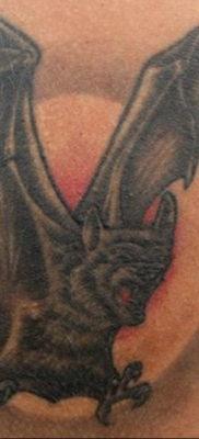 Татуировка разведки – летучая мышь 24.11.2019 №2066 -bat tattoo- tatufoto.com