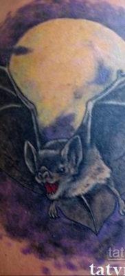 Татуировка разведки – летучая мышь 24.11.2019 №3029 -bat tattoo- tatufoto.com