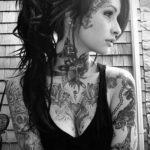 красивая девушка с татуировкой 24.11.2019 №002 -beautiful girl with a tattoo- tatufoto.com