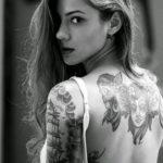 красивая девушка с татуировкой 24.11.2019 №003 -beautiful girl with a tattoo- tatufoto.com