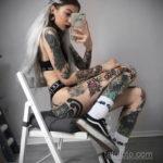 красивая девушка с татуировкой 24.11.2019 №006 -beautiful girl with a tattoo- tatufoto.com
