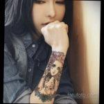 красивая девушка с татуировкой 24.11.2019 №010 -beautiful girl with a tattoo- tatufoto.com