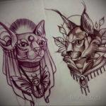 тату Египетская кошка 18.11.2019 №004 -Egyptian cat tattoo- tatufoto.com