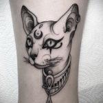 тату Египетская кошка 18.11.2019 №005 -Egyptian cat tattoo- tatufoto.com