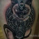 тату Египетская кошка 18.11.2019 №006 -Egyptian cat tattoo- tatufoto.com