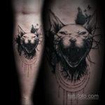 тату Египетская кошка 18.11.2019 №009 -Egyptian cat tattoo- tatufoto.com
