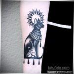 тату Египетская кошка 18.11.2019 №010 -Egyptian cat tattoo- tatufoto.com