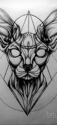 тату Египетская кошка 18.11.2019 №096 -Egyptian cat tattoo- tatufoto.com