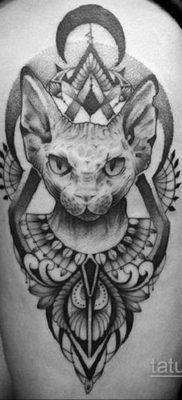 тату Египетская кошка 18.11.2019 №098 -Egyptian cat tattoo- tatufoto.com