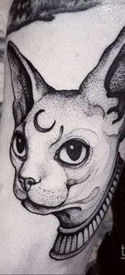 тату Египетская кошка 18.11.2019 №100 -Egyptian cat tattoo- tatufoto.com