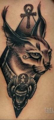 тату Египетская кошка 18.11.2019 №108 -Egyptian cat tattoo- tatufoto.com
