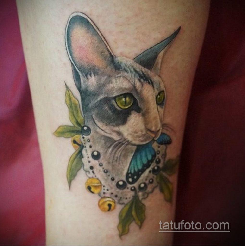 тату Египетская кошка 18.11.2019 №115 -Egyptian cat tattoo- tatufoto.com