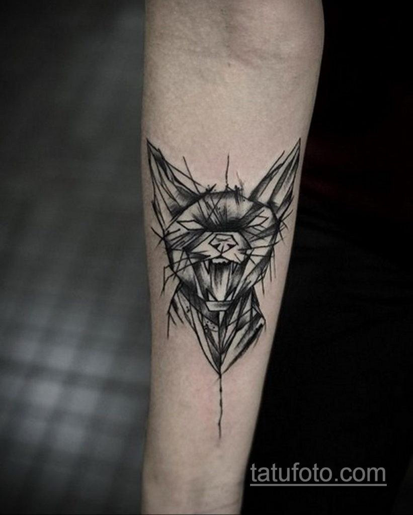 тату Египетская кошка 18.11.2019 №121 -Egyptian cat tattoo- tatufoto.com