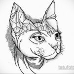 тату Египетская кошка 18.11.2019 №122 -Egyptian cat tattoo- tatufoto.com