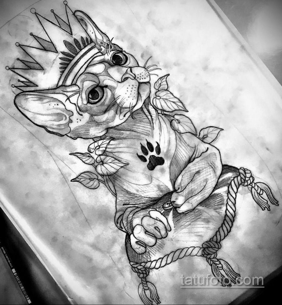 тату Египетская кошка 18.11.2019 №134 -Egyptian cat tattoo- tatufoto.com