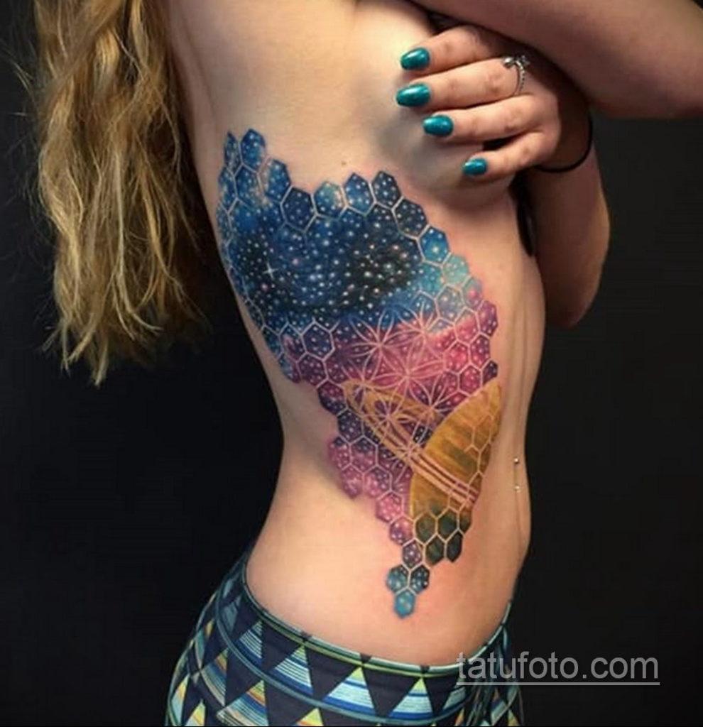 тату на ребрах женские 18.11.2019 №032 -rib tattoos for women- tatufoto.com