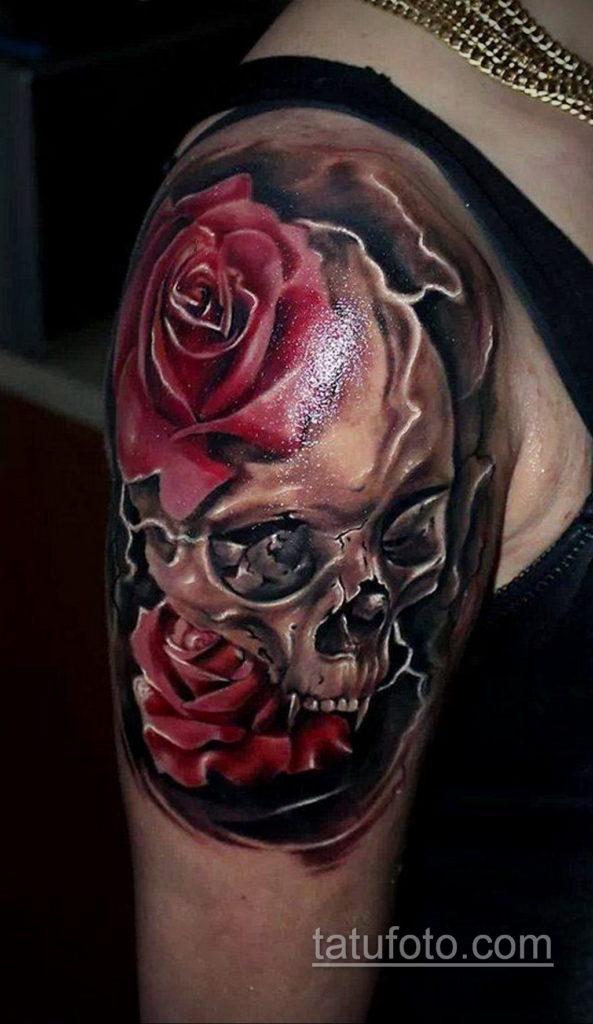 тату роза женская 18.11.2019 №071 -rose tattoo women- tatufoto.com