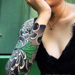 тату рукав женский 18.11.2019 №033 -tattoo sleeve women- tatufoto.com
