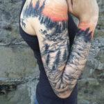 тату рукав женский 18.11.2019 №035 -tattoo sleeve women- tatufoto.com